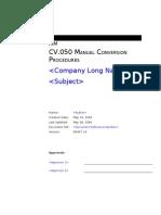 CV050 Manual Conversion Procedures