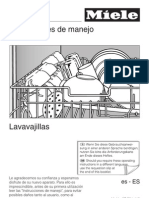 Instrucciones Lavavajillas Miele