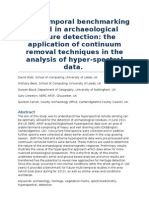 Multi-temporal benchmarking to aid in archaeological feature detection