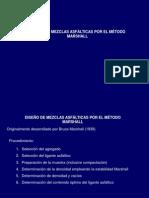 DISEÑO DE MEZCLAS ASFÁLTICAS POR EL MÉTODO MARSHALL