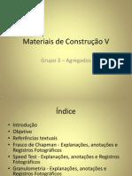 Materiais de Construção V- Agragados