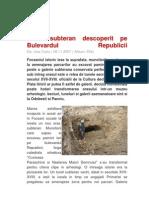 Tunel Subteran Descoperit Pe Bulevardul Republicii