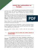 11. Le mouvement des nationalités en Europe