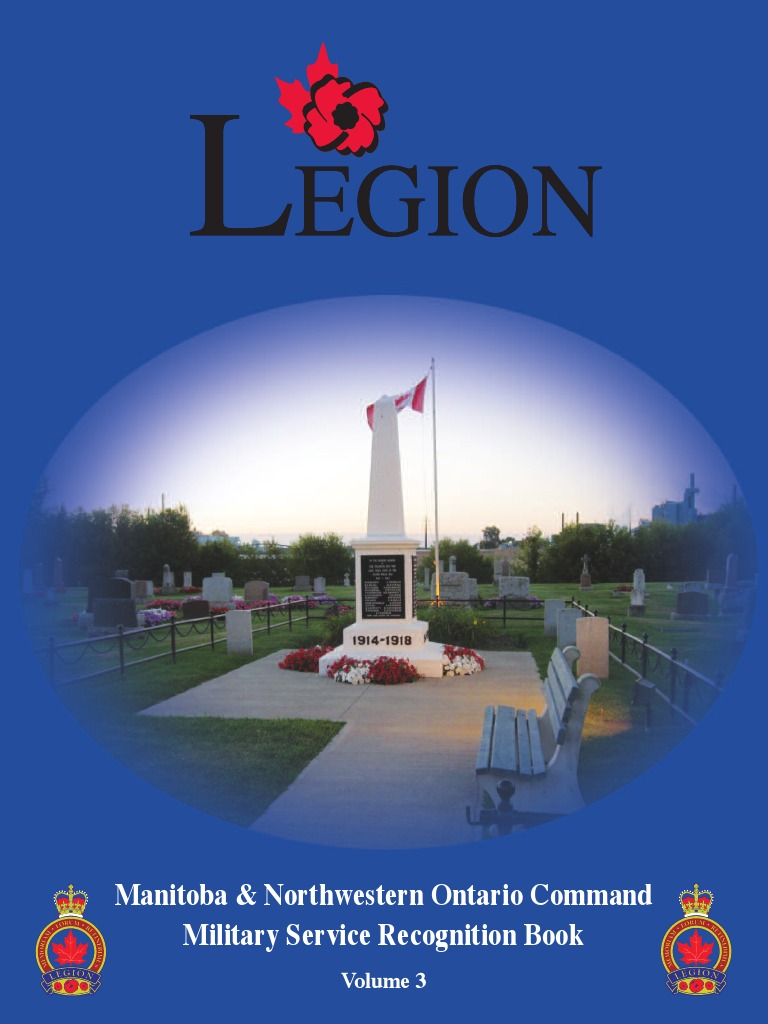 Military Service Recognition Book Vol III (Manitoba and
