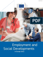 Employment and Social Developments in Europe 2012
