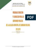 PROGRAMA DE INDUCCIÓN Y RE-INDUCCIÓN PARA LOS SERVIDORES PÚBLICOS DE LA ALCALDÍA MUNICIPAL DE ZAMBRANO BOLIVAR 2012 - 2015