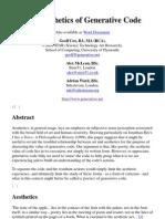 The Aesthetics of Generative Code