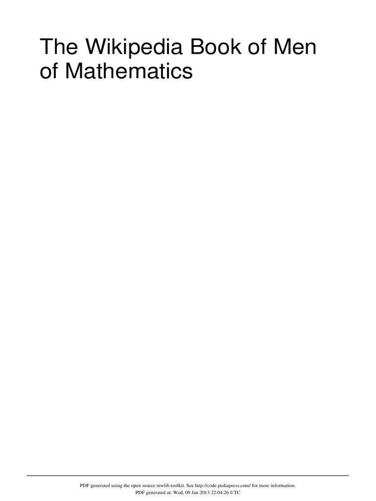 The Men Of Mathematics Ratio Physics Mathematics