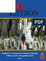Military Service Recognition Book Vol.I (Manitoba and North Western Ontario)