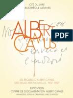Invitation Recueils d'Albert Camus