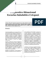 Escuelas Saludables Cotopaxi, Evaluacion atencion a adolescentes