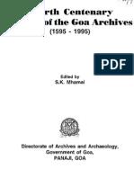 Goa Archives - Fourth Centenary
