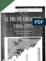 El PBI de Uruguay 1900 - 1955