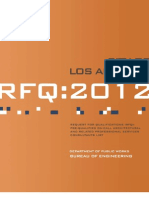 City of Los Angeles RFQ 2012