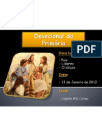 DEVOCIONAL DA PRIMARIA CARTAZ