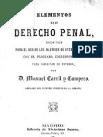 Elementos del derecho Penal