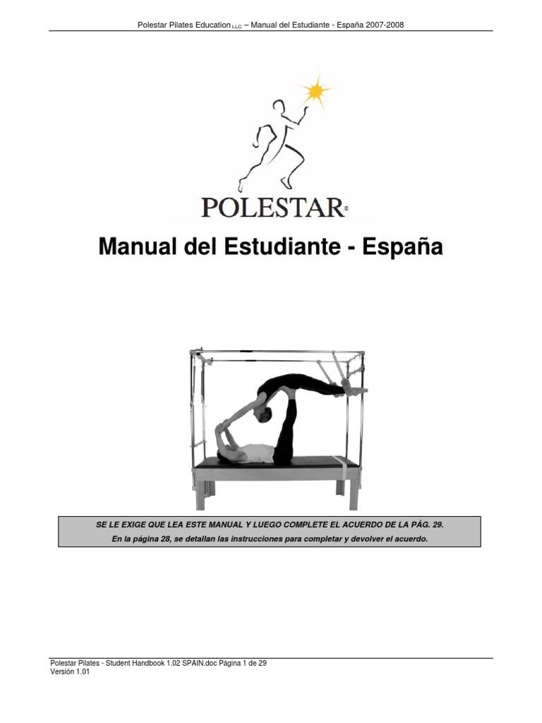 Polestar Pilates - Student Handbook 1.02 SPAIN