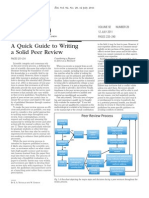 A Quick Guide to Writing a Solid Peer Review