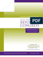 2012 Annual Report to Congress Executive Summary