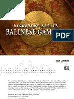 Balinese Gamelan Manual