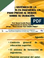 Serafin, 2007. Visión Sistémica de la Formación en Ingenería