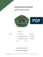 MAKALAH MAINTENANCE AND REPAIR.docx