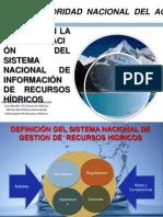 """Avances en la Implementación del Sistema Nacional de Información sobre los Recursos Hídricos"""", Perú-ANA, Sigfrido Fonseca"""