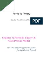Portfolio Theory - CAPM
