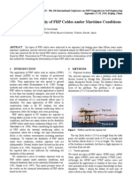 Long-Term Durability of FRP Cables under Maritime Conditions