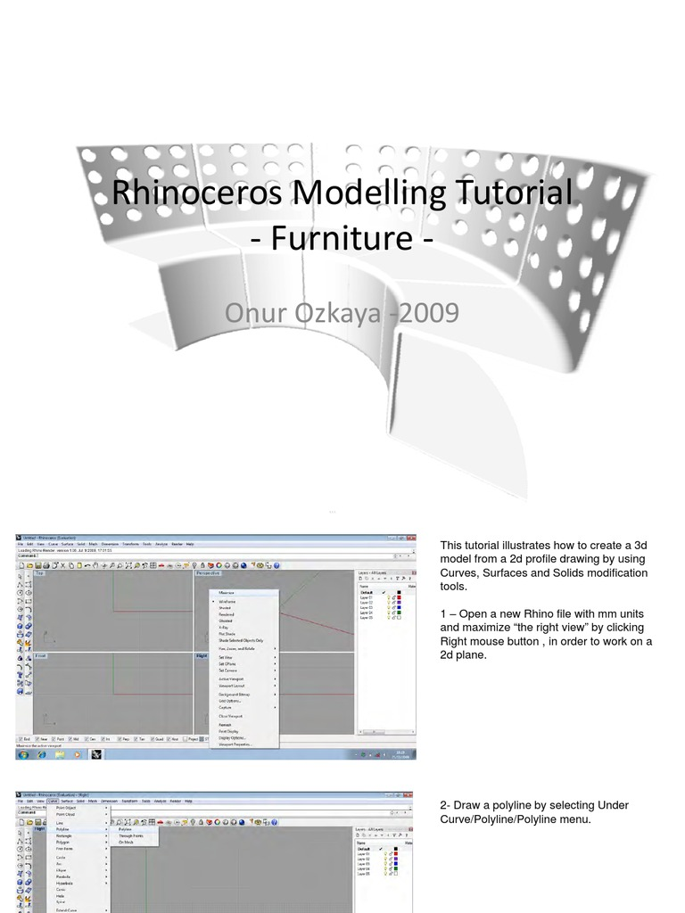 rhino modelling tutorial | Perspective (Graphical) | Extrusion