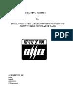 BHEL Training Report On TURBO GENERATOR