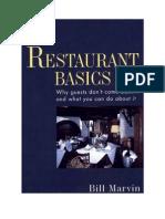 Restaurant Basics