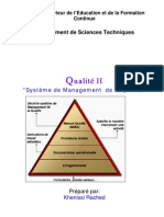 Qualité II Système de Management de la qualité