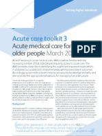 RCP London Toolkit for Acute Care for Frail Elderly