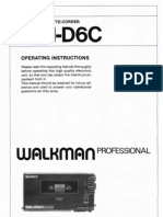 Sony WM-D6C User Manual