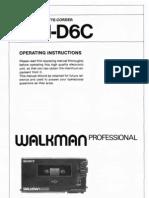 Sony WM-D6C User Manual
