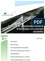 Lafarge The Production of extended cements & the impact on concrete Durability