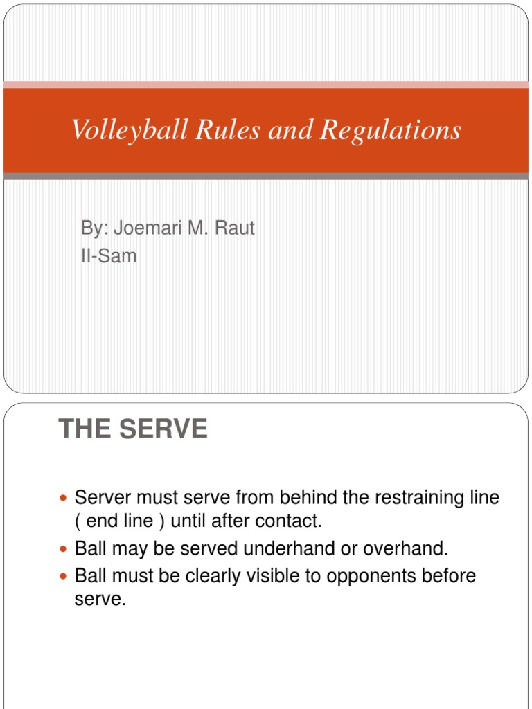 Volleyball Rules And Regulations Pptx Volleyball Hobbies