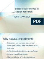 natural and quasi experiment
