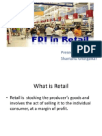 Fdi in Retail Sector in India