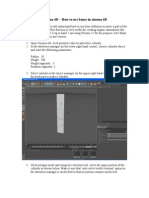 Cinema 4D-How to Use Bones in Cinema 4D