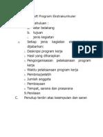 Draft Program Ekstrakurikuler
