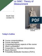 Error analysis lecture 1