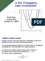 Error analysis lecture 12