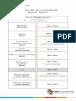2012 Leeds School of Business, CU Boulder Orientation Schedule