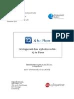 Développement d'une application mobile pour iphone