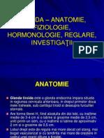 TIROIDA – ANATOMIE, FIZIOLOGIE, HORMONOLOGIE,