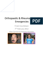 ortho rheum with answers