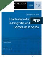 El arte del retrato y de la biografía en Ramón Gómez de la Serna