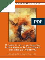 El capital social y la participación de las mujeres en la fuerza laboral
